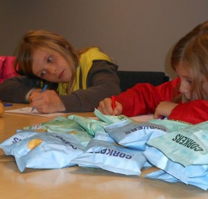 the Brownies designed their own new flavours: ranging from Roast Chicken to Chocolate and Strawberry flavoured crisps