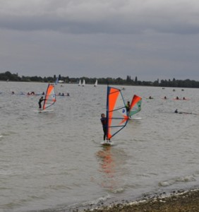 Windsurfing at Grafham weekend