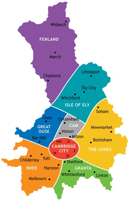 Map Of Cambridgeshire County map   Girlguiding Cambridgeshire East
